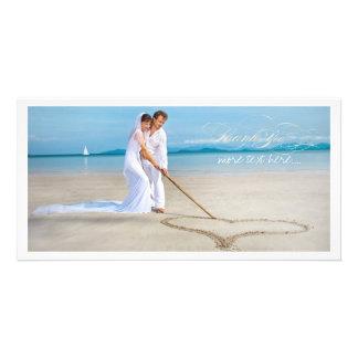 PixDezines Hochzeits-Foto danken Ihnen Fotokarte