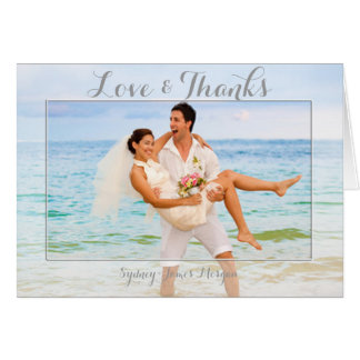 PixDezines Hochzeits-Foto danken Ihnen Karten
