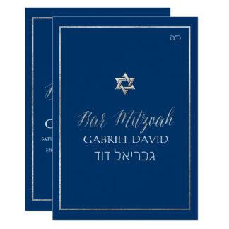 PixDezines klassische Bar Mitzvah Silver/DIY Farbe 12,7 X 17,8 Cm Einladungskarte