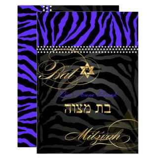 PixDezines königliche lila Zebra-Streifen, 12,7 X 17,8 Cm Einladungskarte