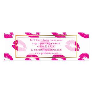PixDezines Kuss-Pinklippen Mini-Visitenkarten