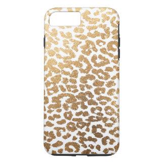 PixDezines Leopard-Druck/Hintergrund des iPhone 8 Plus/7 Plus Hülle