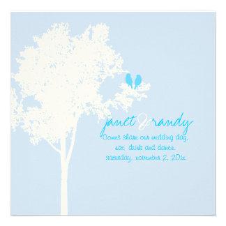 PixDezines Liebe-Vögel Farbe der Schnee-Asche Personalisierte Ankündigungen