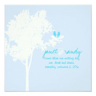 PixDezines Liebe-Vögel, Farbe der Schnee-Asche Quadratische 13,3 Cm Einladungskarte