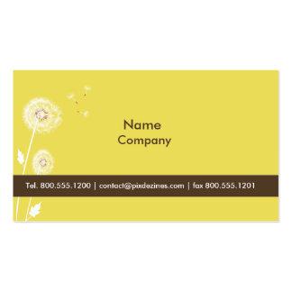 PixDezines Löwenzahn-Zitronen-Eifergelb Visitenkarten