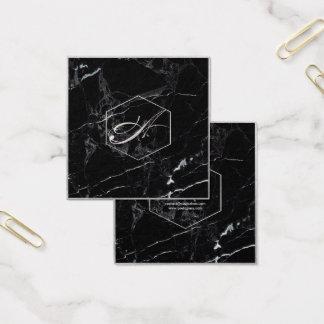PixDezines Marmor+Elegantes Imitat-silberne Quadratische Visitenkarte
