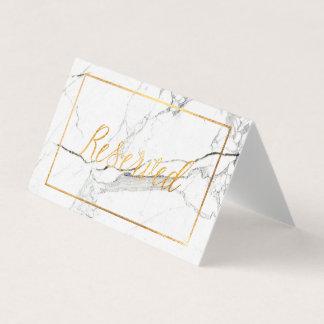 PixDezines Marmor+Imitat-Goldreservierte Platzkarte