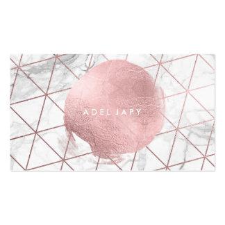 PixDezines Marmor+Imitat-Rosen-Goldfolie Visitenkarten