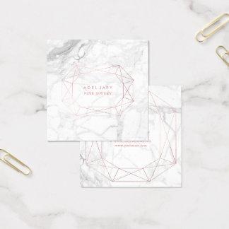 PixDezines Marmor+Imitat-Rosen-Goldoval-Schnitt Quadratische Visitenkarte