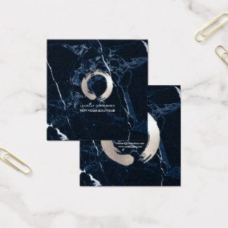 PixDezines Marmor/Kreis des Lebens/des Quadratische Visitenkarte