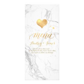 PixDezines Marmor-/Shine-Menü/Imitat-Gold Werbekarte