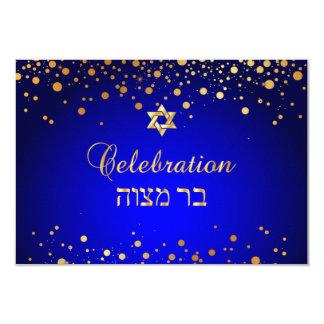 PixDezines Mitzvah Feier, Imitat-GoldConfetti Karte