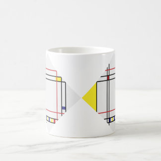 PixDezines Mondrian, Minimalist Kaffeetasse