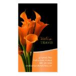 PixDezines orange Callalilie/diy Hintergrund Visitenkarten
