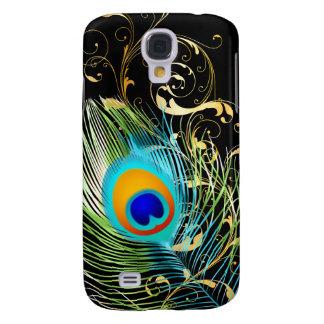 PixDezines Pfaufeder/diy Hintergrundfarbe Galaxy S4 Hülle