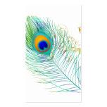 PixDezines Pfaufeder/diy Hintergrundfarbe Visitenkarten