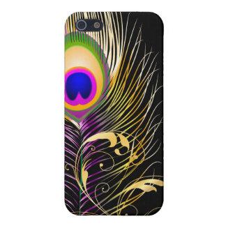 PixDezines Pfaufeder+filigree/DIY Hintergrund iPhone 5 Etuis