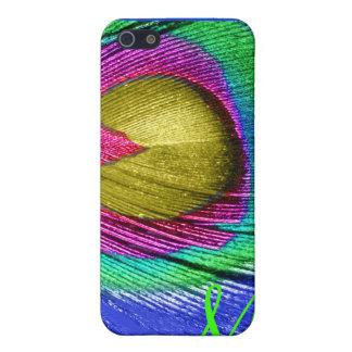 PixDezines psychedelischer Pfau, Monogramm iPhone 5 Schutzhülle
