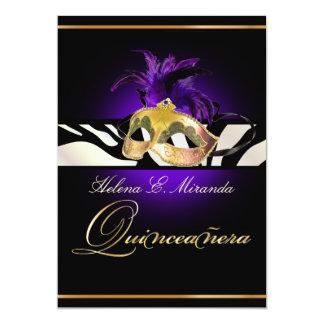 PixDezines Quincenera/purpurrote Zebra/DIY Farbe!! 12,7 X 17,8 Cm Einladungskarte