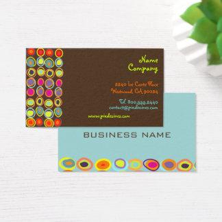 PixDezines Retro/Bio Eggs/DIY Hintergrundfarbe Visitenkarte