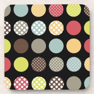 PixDezines Retro Hintergrundfarbe Polkas Dots/DIY Cocktail Untersetzer