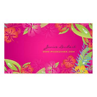 PixDezines Retro mutige tropische Blumen Visitenkarte