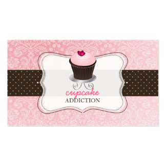 PixDezines rosa Herz kleiner Kuchen/pâtisserie Visitenkartenvorlage
