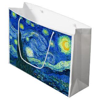 PixDezines Van Gogh sternenklares night/st. remy Große Geschenktüte