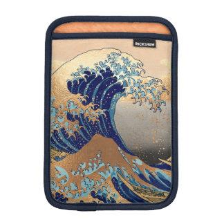PixDezines Vintag, große Welle, Hokusai 葛飾北斎の神奈川沖浪 Sleeve Für iPad Mini