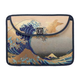 PixDezines Vintag, große Welle, Hokusai 葛飾北斎の神奈川沖浪 Sleeve Für MacBooks