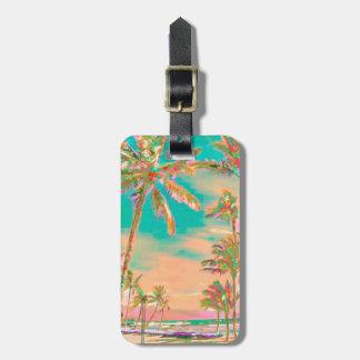 PixDezines Vintage hawaiische Gepäckanhänger