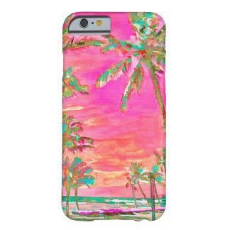 PixDezines Vintage hawaiische Strand-Szene/Rosa Barely There iPhone 6 Hülle