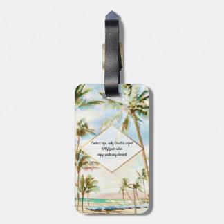PixDezines Vintage hawaiische Strandszene/Breezy Kofferanhänger