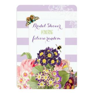PixDezines Vintage lila Primel/Brautdusche 12,7 X 17,8 Cm Einladungskarte