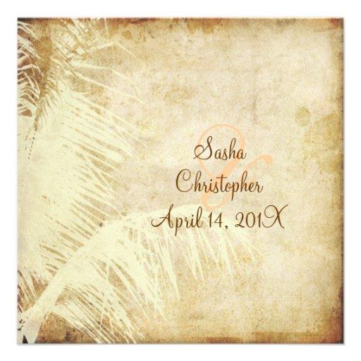 PixDezines Vintage Palme Imitatpergament Individuelle Einladungskarte