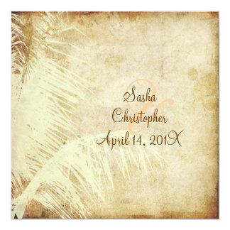 PixDezines Vintage Palme/Imitatpergament Individuelle Einladungskarte