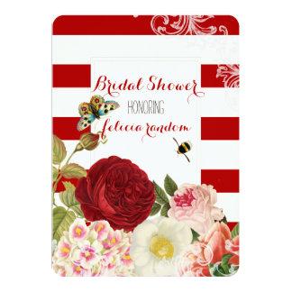 PixDezines Vintage Rosen/Brautdusche 12,7 X 17,8 Cm Einladungskarte