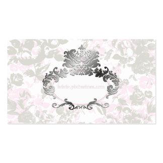 PixDezines Vintage Rosen erblassen - Rosa+Grau Visitenkarten Vorlagen