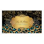 PixDezines Vintager Cheetah, schwarze Spitze Visitenkarte