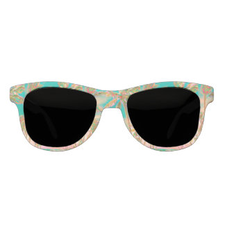 PixDezines Vintager hawaiischer Strand/aquamarin Sonnenbrille