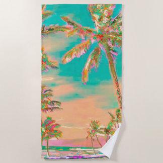 PixDezines Vintager hawaiischer Strand/aquamarin Strandtuch