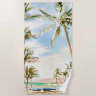 PixDezines Vintager hawaiischer Strand/blauer Strandtuch