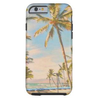 PixDezines Vintager hawaiischer Strand Tough iPhone 6 Hülle