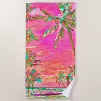 PixDezines Vintager hawaiischer Strandtuch