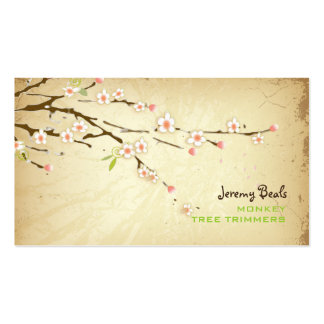 PixDezines Vintages rosa Kirschbaumtrimmer ♥♥♥ Visitenkartenvorlagen