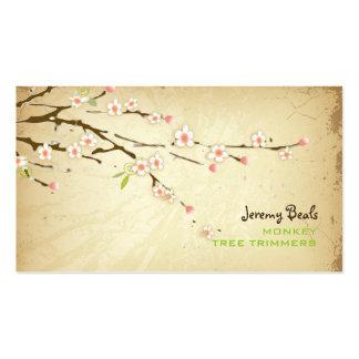 PixDezines Vintages/rosa Kirschbaumtrimmer ♥♥♥ Visitenkartenvorlagen