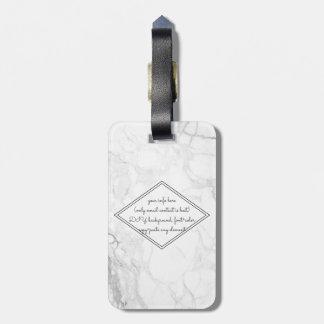 PixDezines Weiß-Marmor Gepäckanhänger