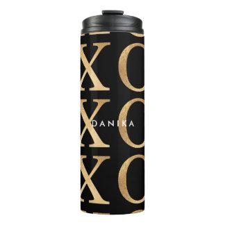PixDezines xoxo/Hintergrund des Imitats Gold/DIY Thermosbecher