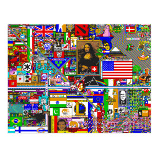 pixel art by r/place postkarte