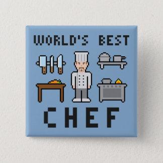Pixel-bester Koch Quadratischer Button 5,1 Cm